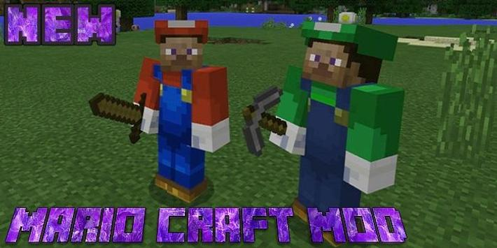 Mario Craft Add-on for MCPE poster