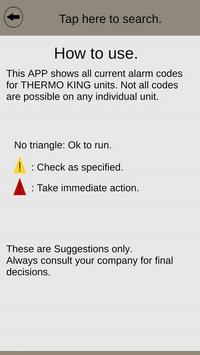 Thermo King alarm codes poster