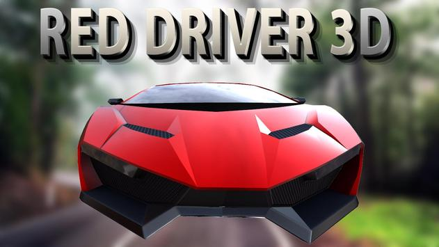 Red Driver 3D poster