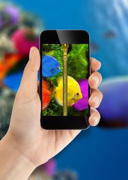 Aquarium Zipper Lock Screen apk screenshot