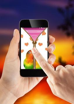 Bird Zipper Lock Screen apk screenshot