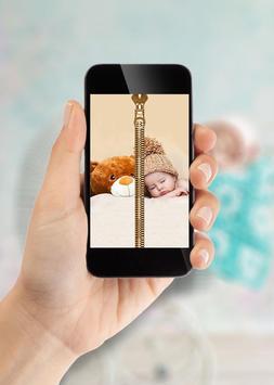 Cute Baby Zipper Lock Screen screenshot 1