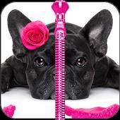 Cute Puppy Zipper Lock Screen icon
