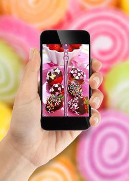 Candy Zipper Lock Screen apk screenshot