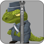 Dinosaur Zipper Lock Screen icon