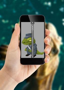 Dinosaur Zipper Lock Screen apk screenshot