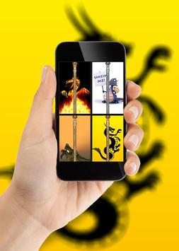 Dragon Zipper Lock Screen poster