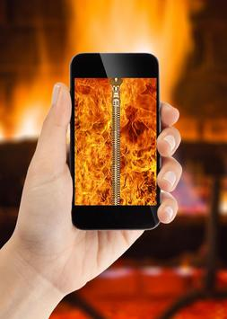 Fire Zipper Lock Screen apk screenshot