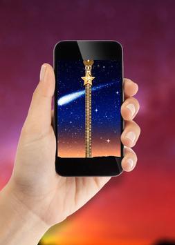 Stars Zipper Lock Screen apk screenshot