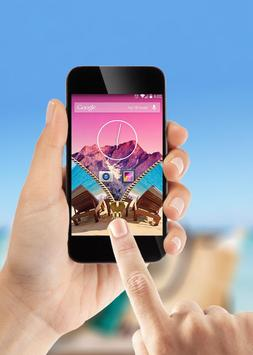 Summer Zipper Lock Screen apk screenshot