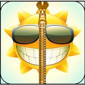Smiley Zipper Lock Screen icon