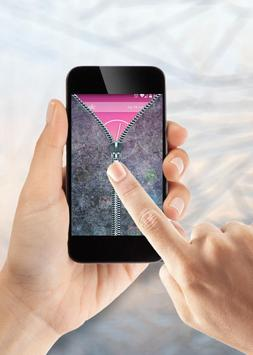 Transparent Zipper Lock Screen screenshot 2
