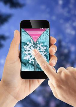 Winter Zipper Lock Screen apk screenshot