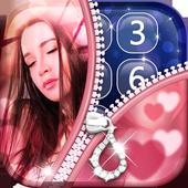 Zipper Lock Screen with Photo icon