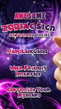 Zodiac Sign Keyboard Themes poster