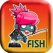 Zombie Girl Fishing icon