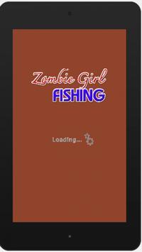 Zombie Girl Fishing poster