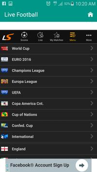Live Football Scores - M5 apk screenshot