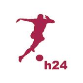 Piłka nożna H24  żywo أيقونة