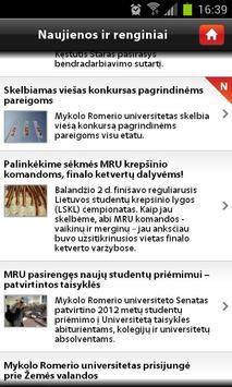 Mykolas Romeris University apk screenshot
