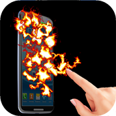 Fire Screen FingerTouch Prank icon