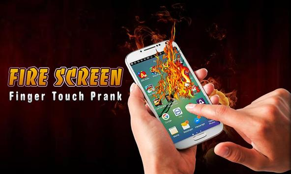 Fire Screen FingerTouch Prank poster