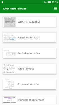 1000+ Maths Formulas screenshot 1