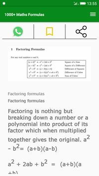 1000+ Maths Formulas screenshot 2