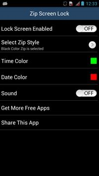 Zip Screen Lock screenshot 1
