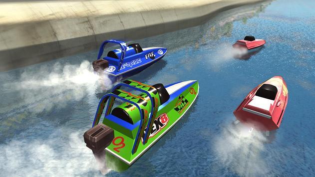 Speed Boat Racing تصوير الشاشة 1