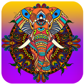 Mandala Color by Number-Pixel Art Coloring icon