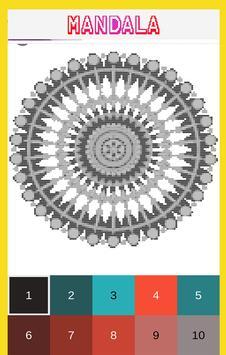 Mandala Color by Number-Pixel Art Coloring screenshot 3