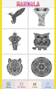 Mandala Color by Number-Pixel Art Coloring poster