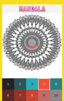 Mandala Color by Number-Pixel Art Coloring screenshot 1
