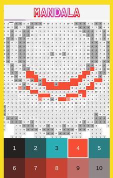 Mandala Color by Number-Pixel Art Coloring screenshot 2