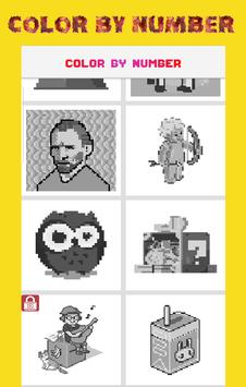 MTSI Color by Number: Coloring book - Pixel Art poster