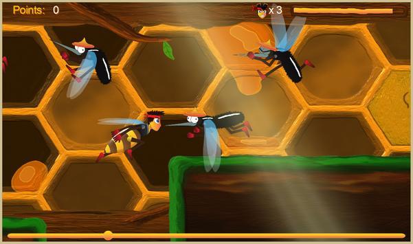 Justin the Bee - Super Runner screenshot 1