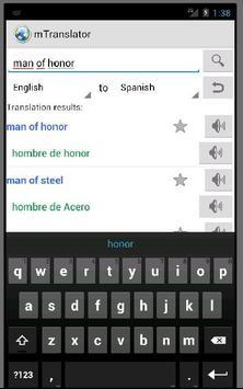 mTranslator apk screenshot