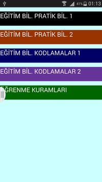 KPSS Eğitim Bilimleri Notlar apk screenshot