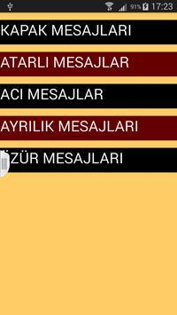 Kapak Sözler Atarlı Sözler SMS apk screenshot