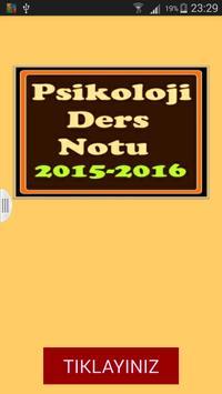 Psikoloji Ders Notu 2015 2016 poster