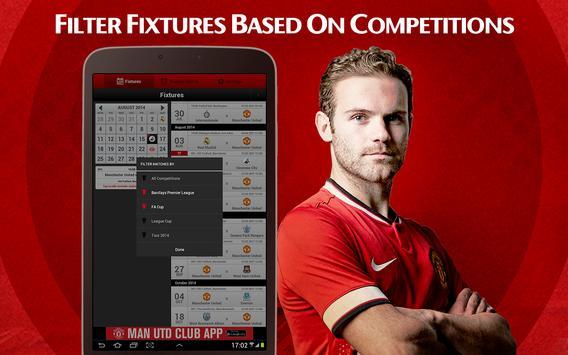 Man Utd Fixtures Calendar screenshot 1
