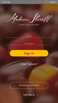 Mubeena Shariff Chocolatier poster