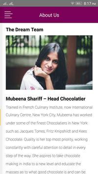 Mubeena Shariff Chocolatier apk screenshot