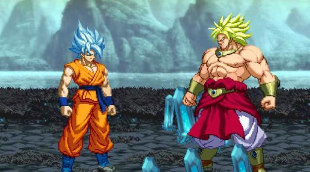Ultimate MUGEN saiyan battle poster