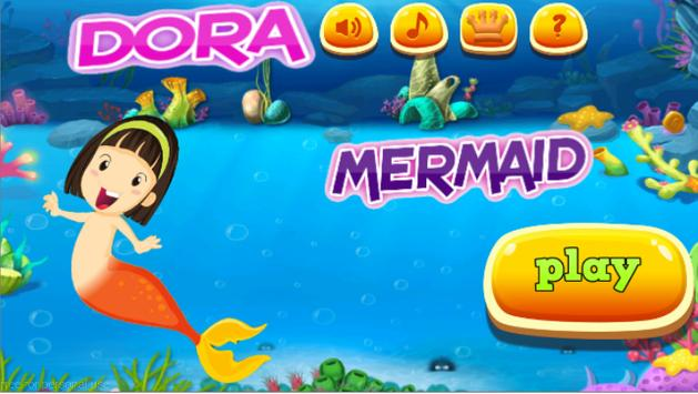 Dora Mermaid game apk screenshot