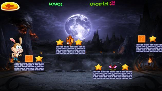 Rabbit Adventures world game apk screenshot