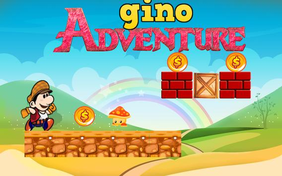 Super Gino Run Adventure Game apk screenshot