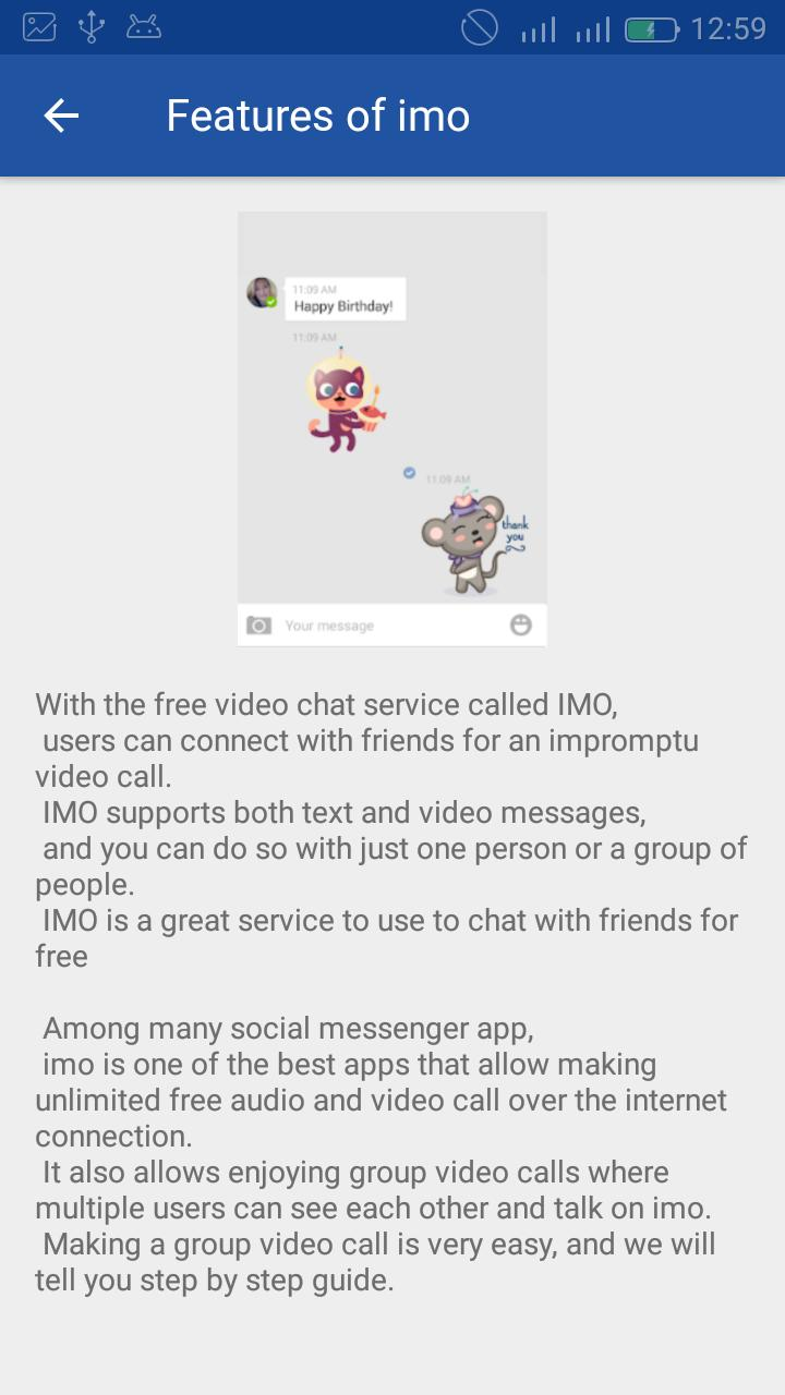 Guide IMO, free Video and Group calls for Android - APK Download