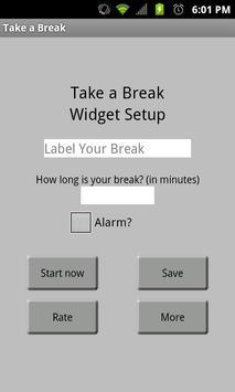 Take A Break Widget poster